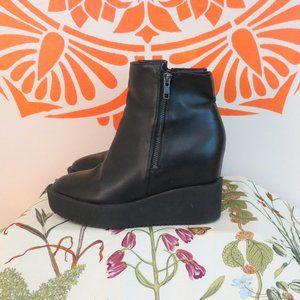 Divided Black Platform Monster Boots 9.5